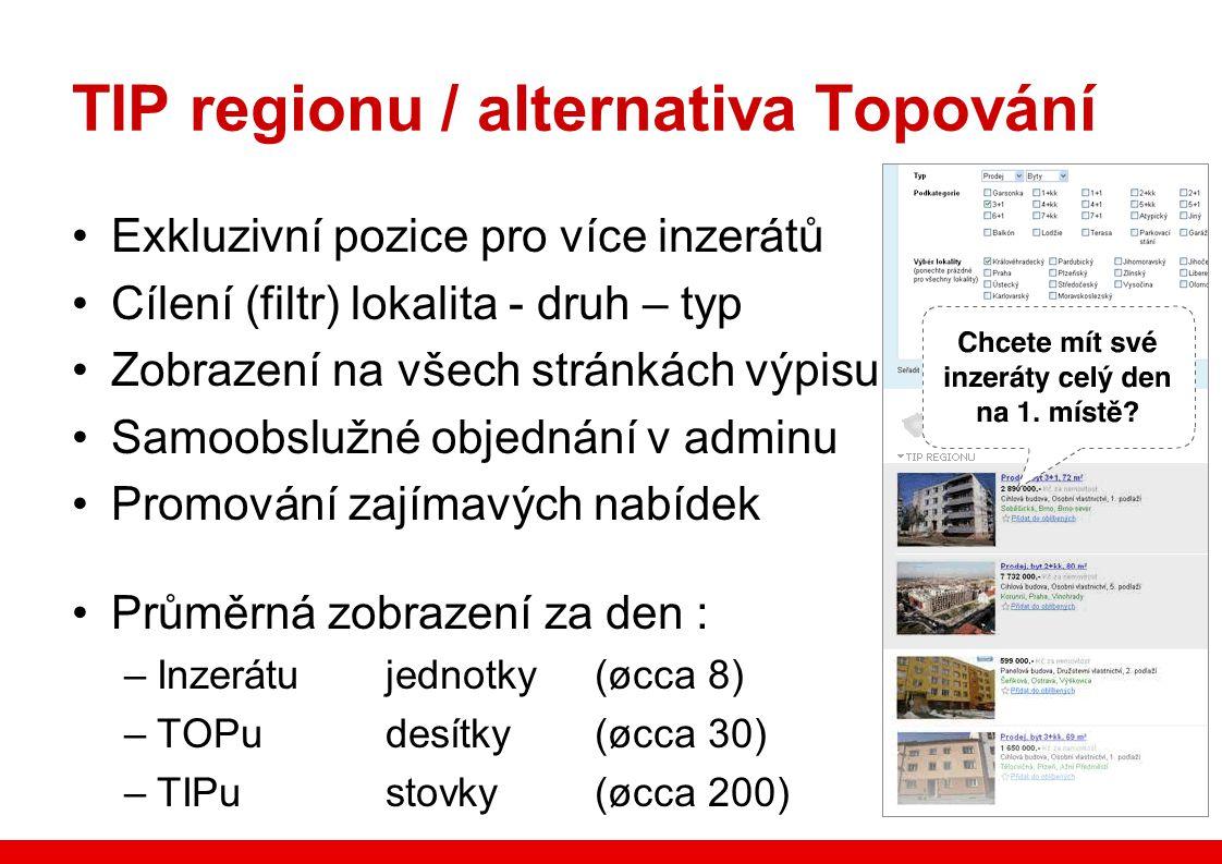 TIP regionu / alternativa Topování