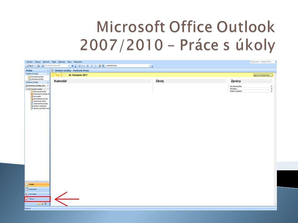 Microsoft Office Outlook 2007/2010 – Práce s úkoly