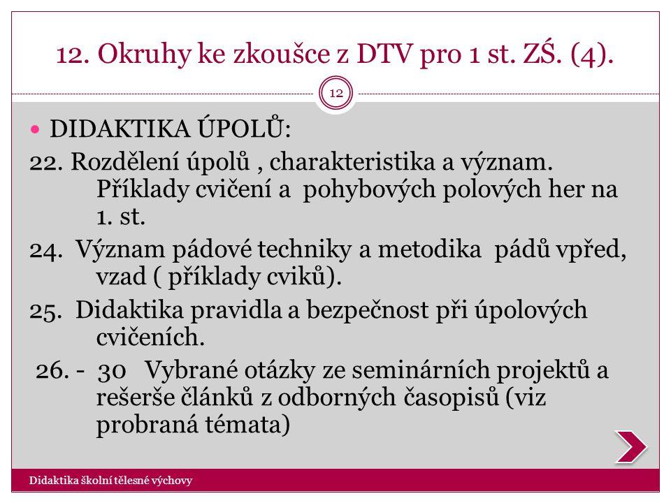 12. Okruhy ke zkoušce z DTV pro 1 st. ZŚ. (4).