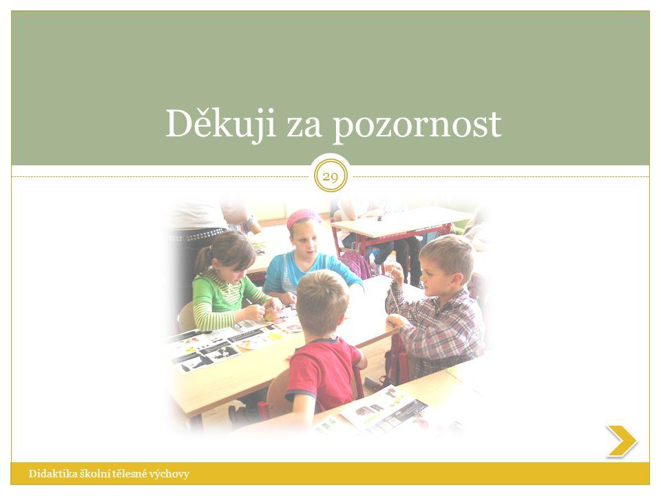 Děkuji za pozornost Didaktika školní tělesné výchovy