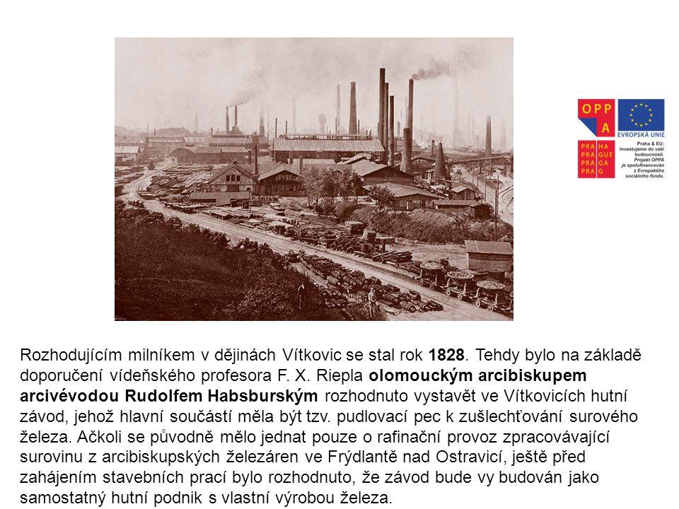 Rozhodujícím milníkem v dějinách Vítkovic se stal rok 1828