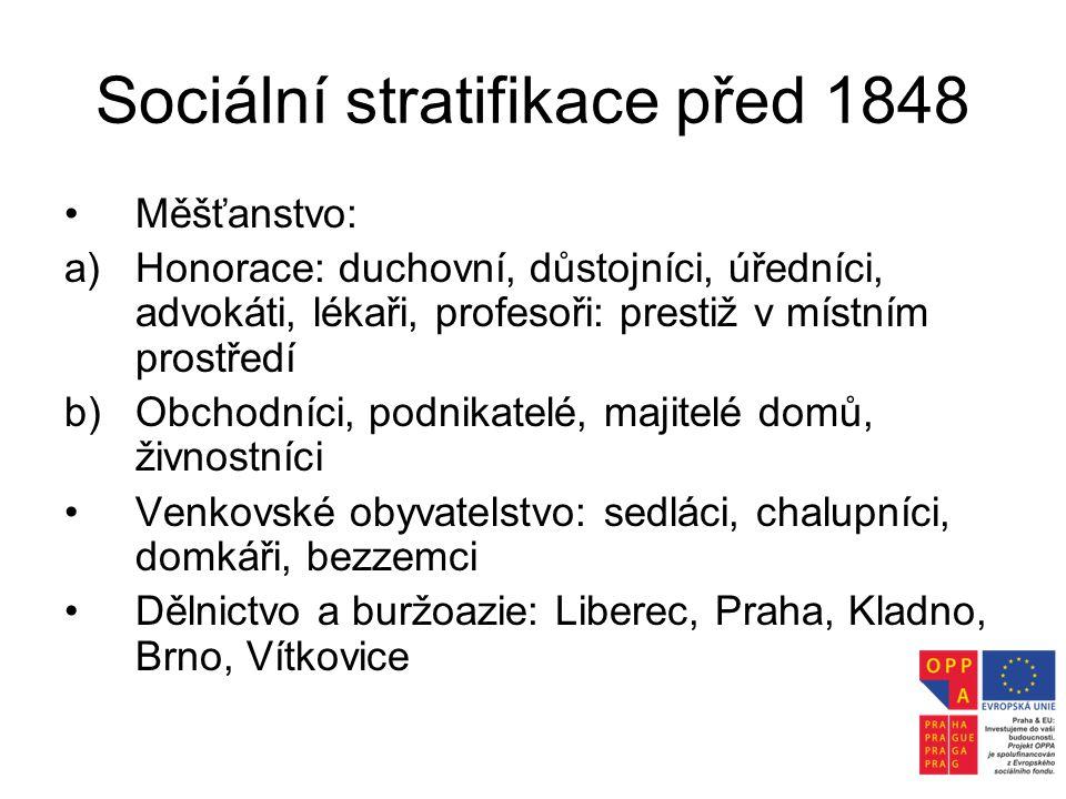 Sociální stratifikace před 1848