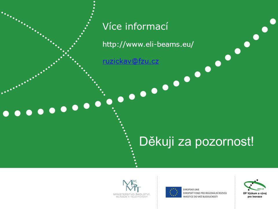 Děkuji za pozornost! Více informací http://www.eli-beams.eu/