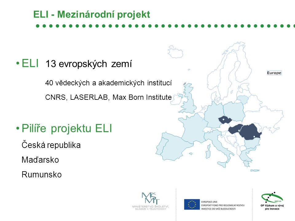 ELI - Mezinárodní projekt