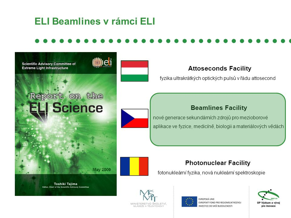 ELI Beamlines v rámci ELI