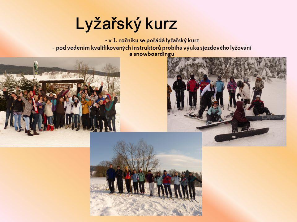 - v 1. ročníku se pořádá lyžařský kurz