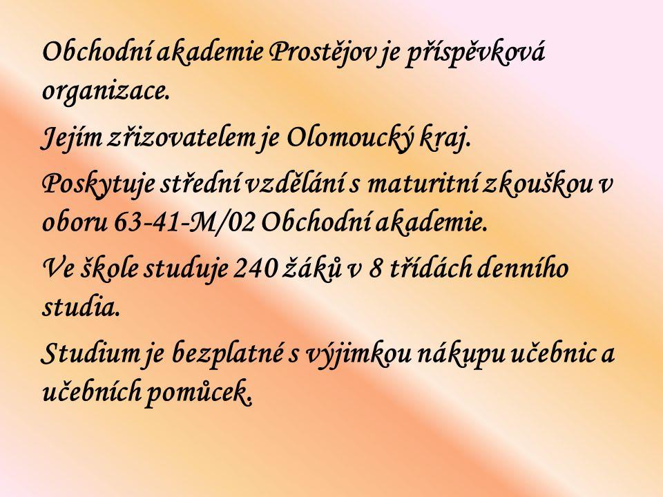 Obchodní akademie Prostějov je příspěvková organizace