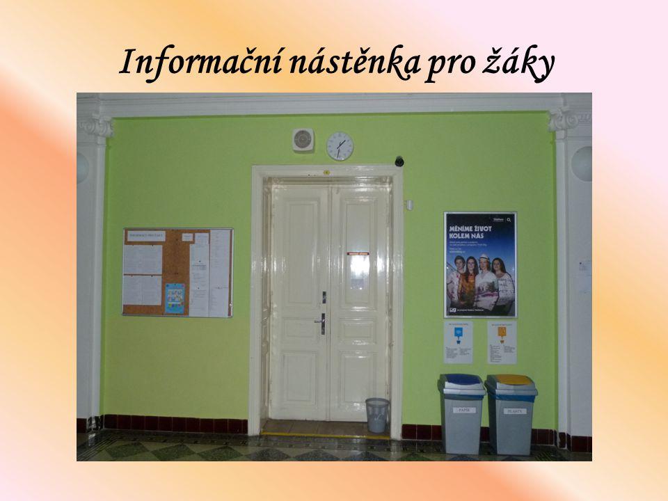 Informační nástěnka pro žáky