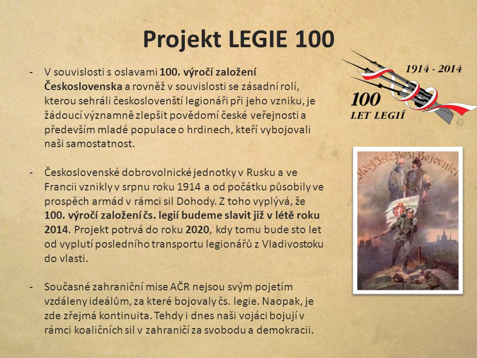 Projekt LEGIE 100