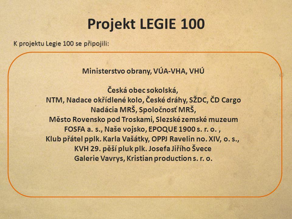 Projekt LEGIE 100 Ministerstvo obrany, VÚA-VHA, VHÚ