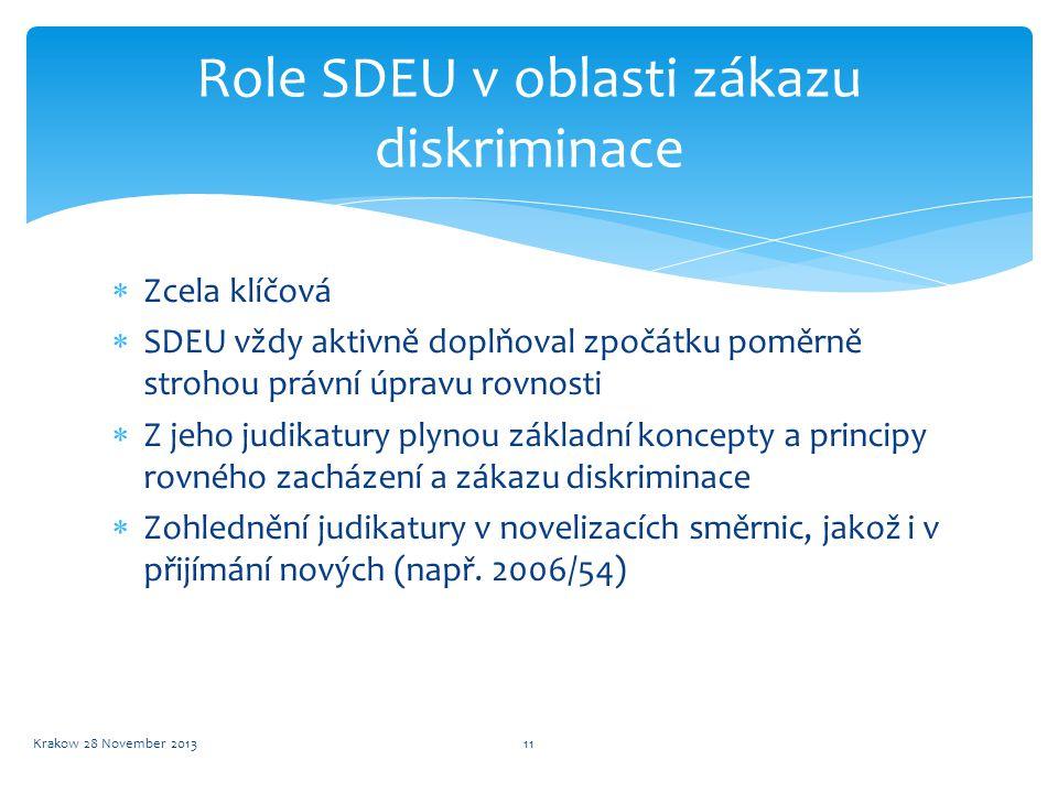Role SDEU v oblasti zákazu diskriminace
