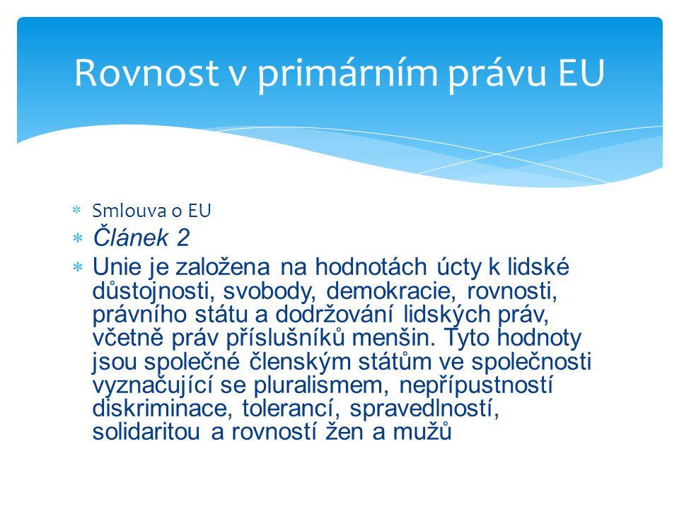 Rovnost v primárním právu EU