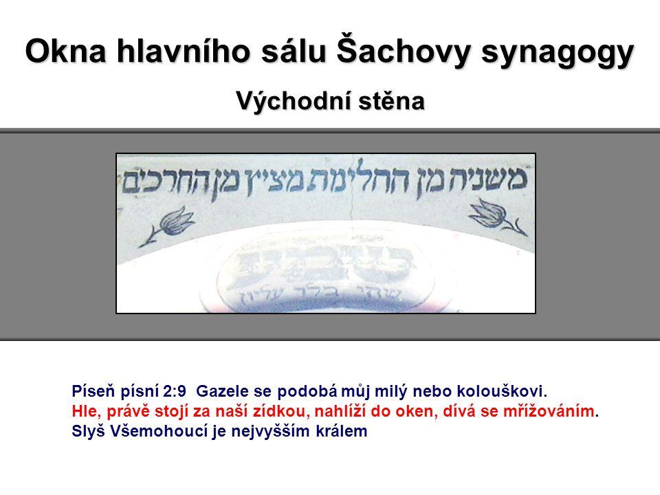 Okna hlavního sálu Šachovy synagogy