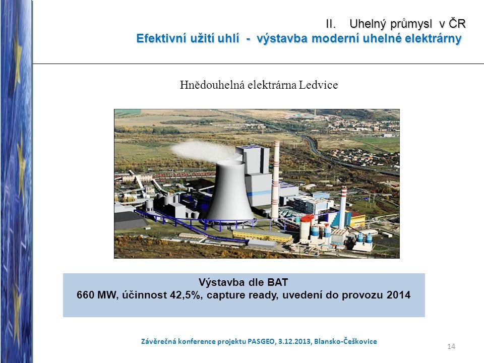 Efektivní užití uhlí - výstavba moderní uhelné elektrárny
