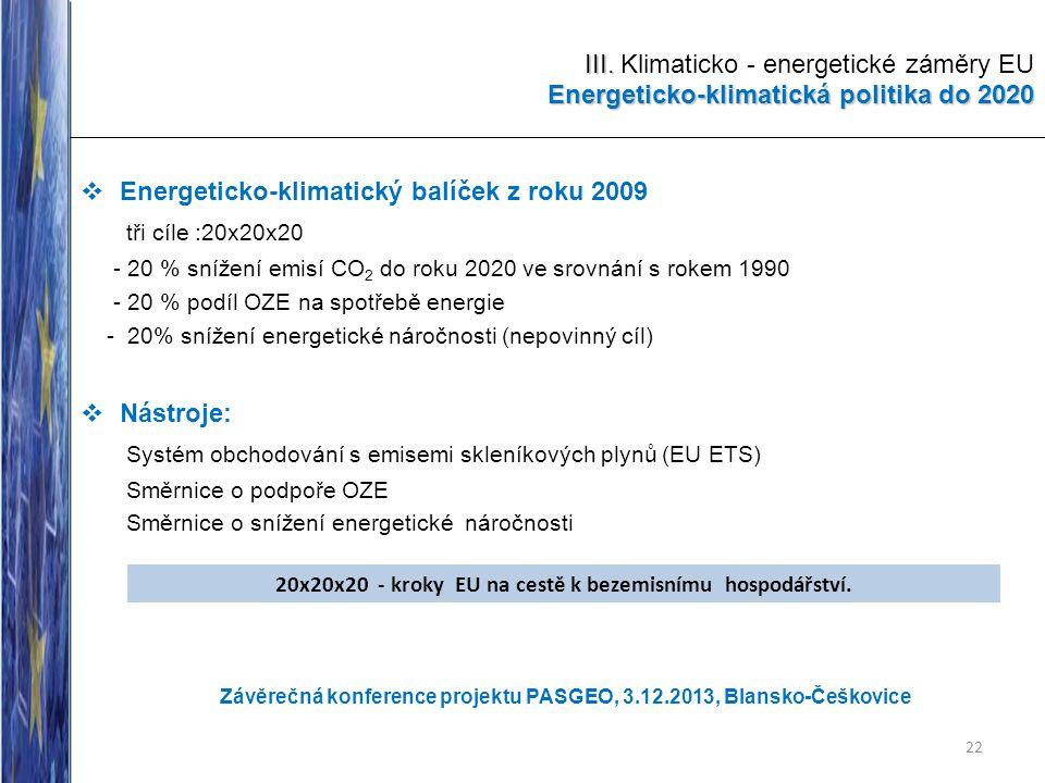 20x20x20 - kroky EU na cestě k bezemisnímu hospodářství.