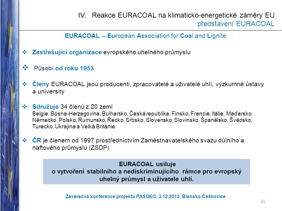 EURACOAL – European Association for Coal and Lignite