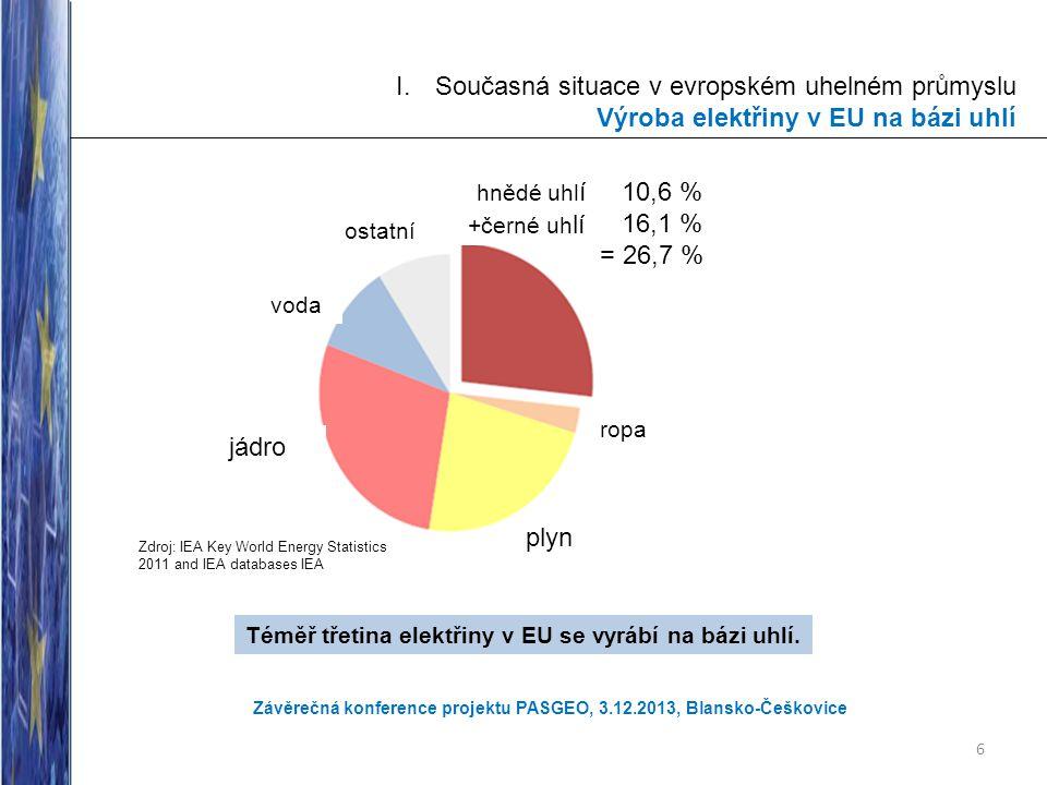 Téměř třetina elektřiny v EU se vyrábí na bázi uhlí.