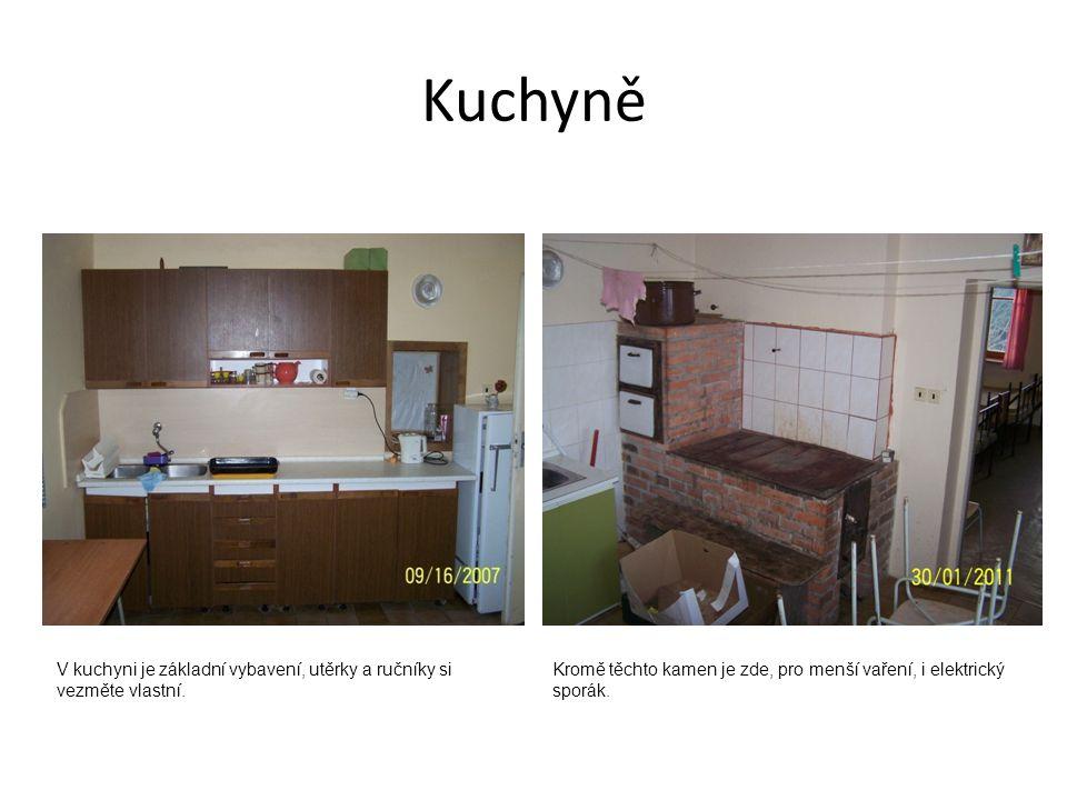 Kuchyně V kuchyni je základní vybavení, utěrky a ručníky si vezměte vlastní.