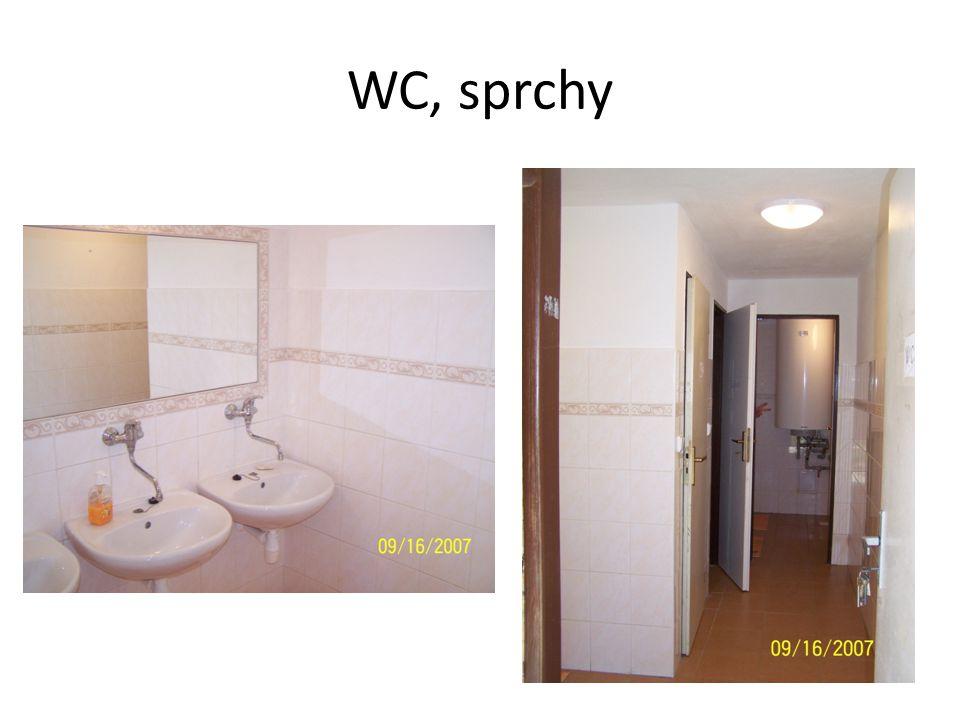 WC, sprchy