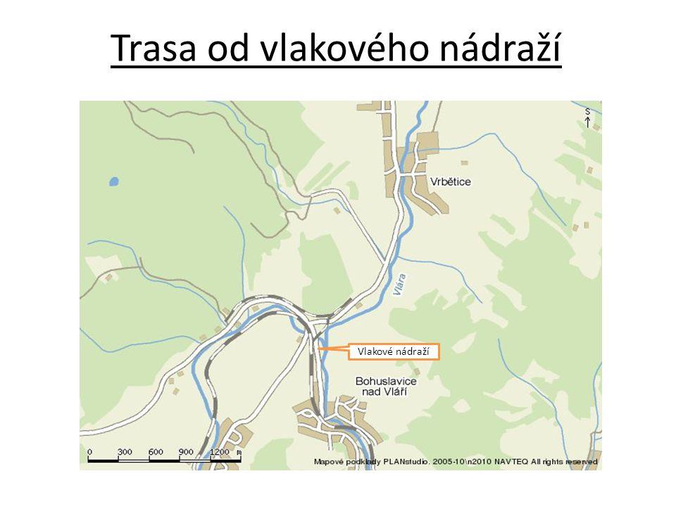 Trasa od vlakového nádraží