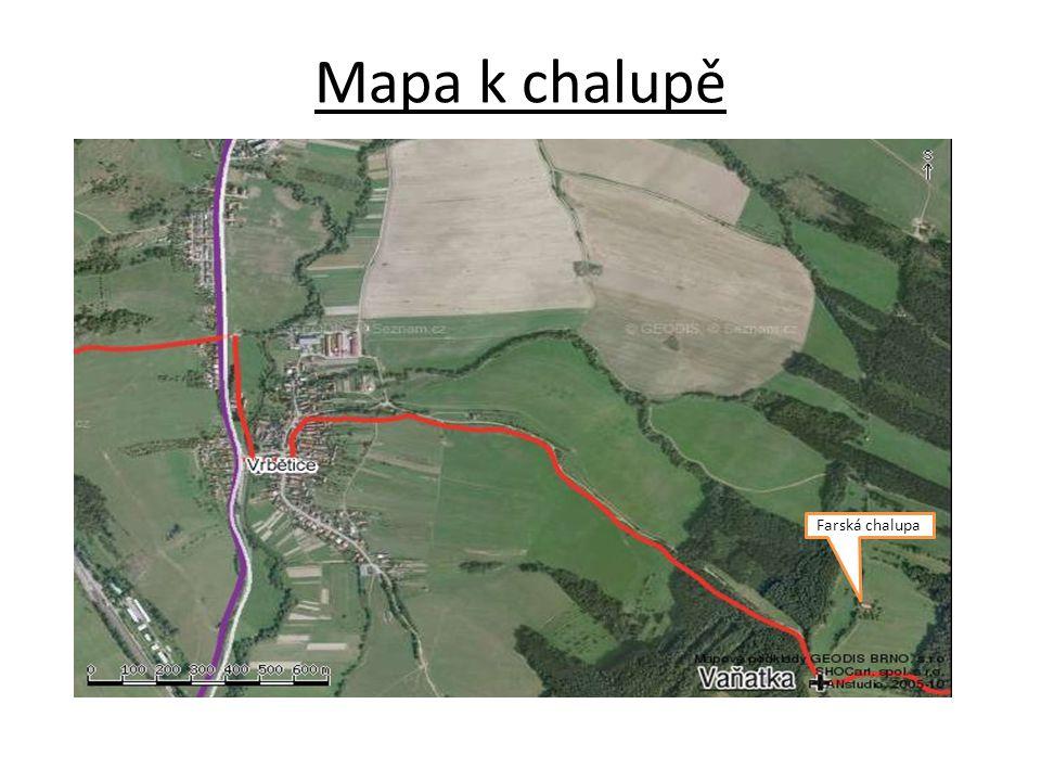 Mapa k chalupě Farská chalupa
