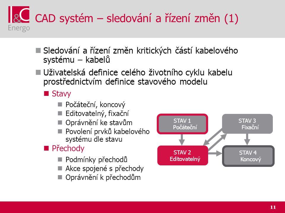 CAD systém – sledování a řízení změn (1)