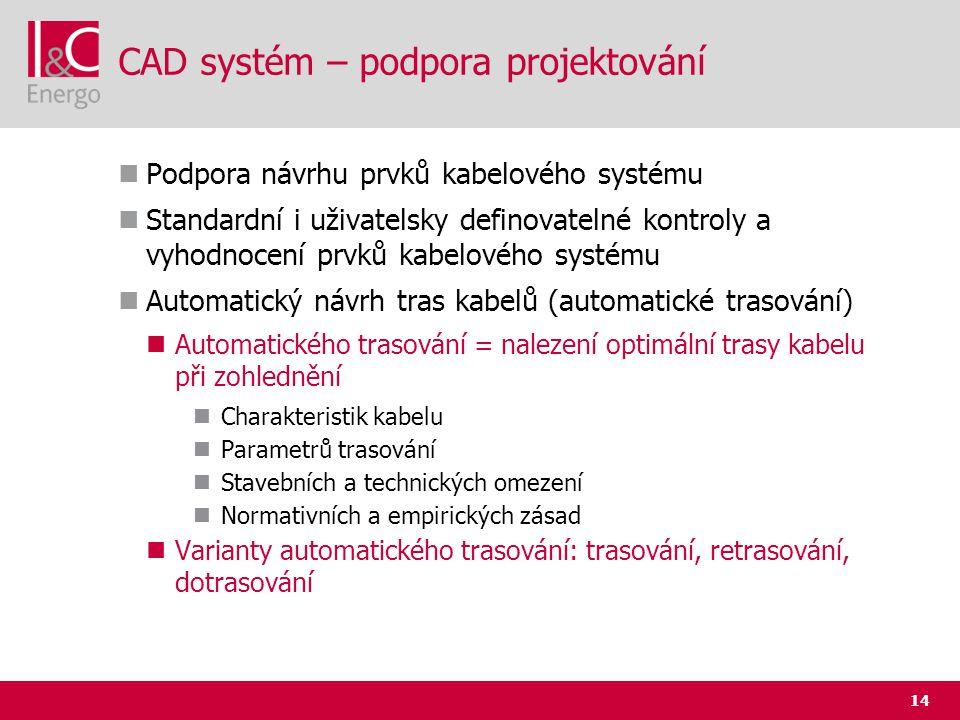 CAD systém – podpora projektování