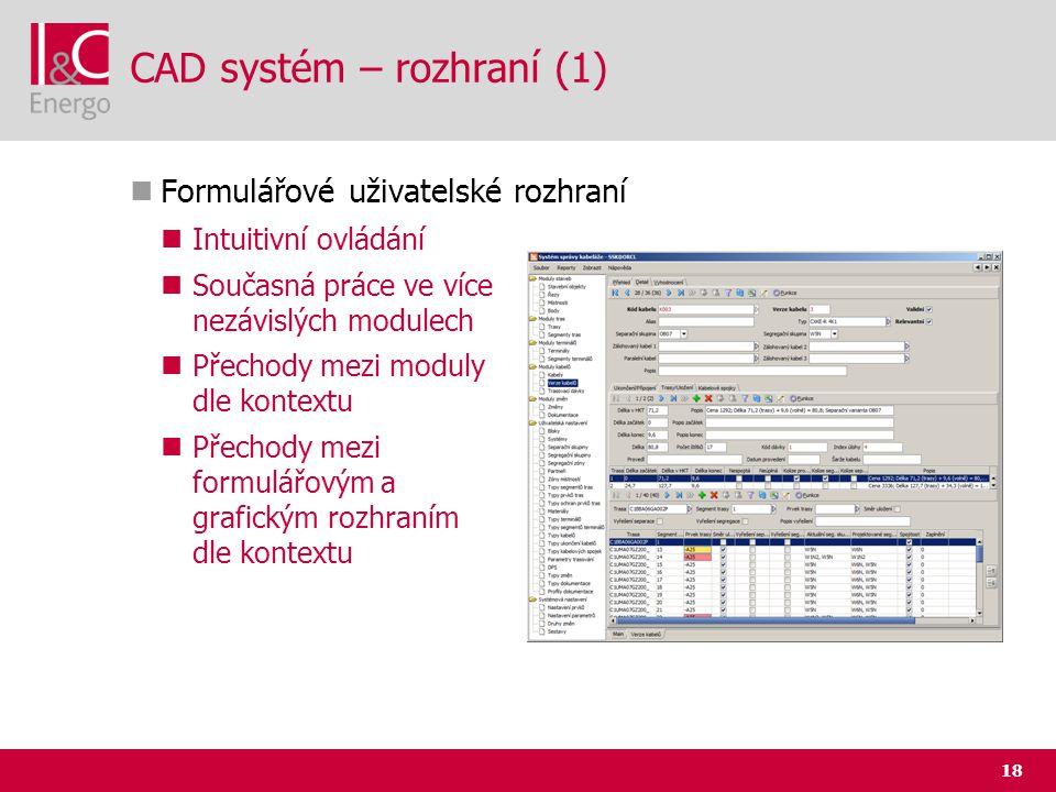 CAD systém – rozhraní (1)
