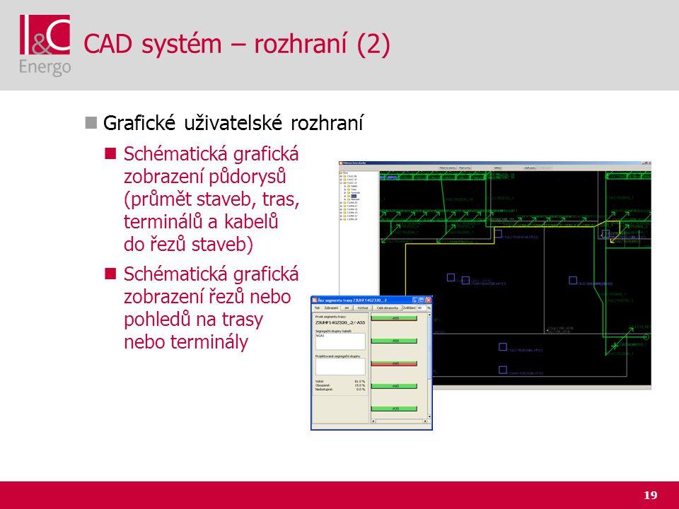 CAD systém – rozhraní (2)