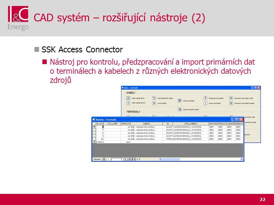 CAD systém – rozšiřující nástroje (2)