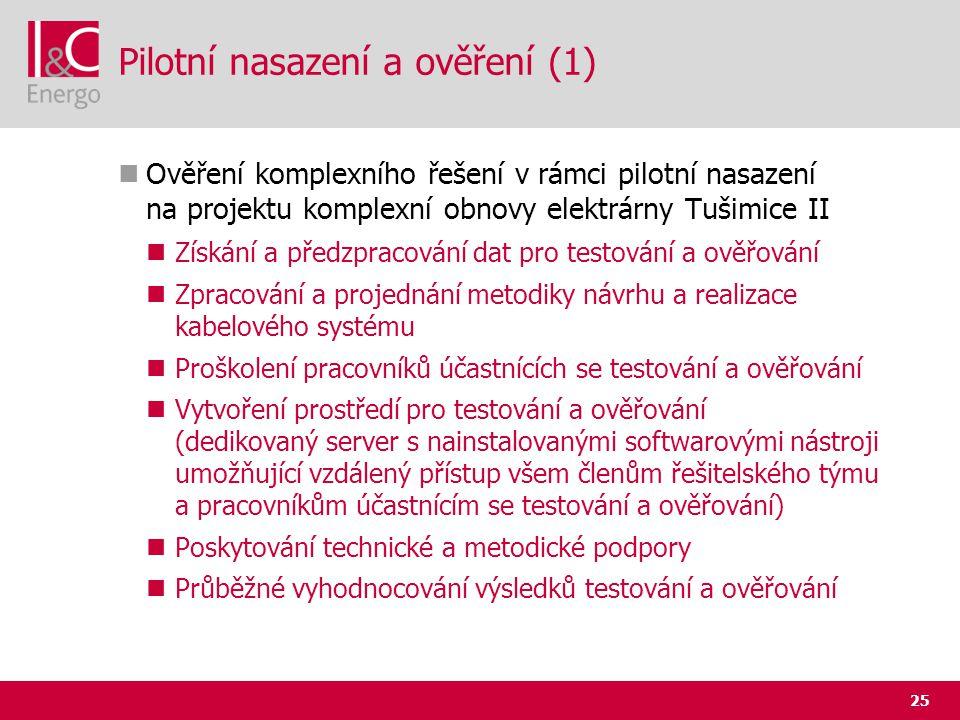 Pilotní nasazení a ověření (1)