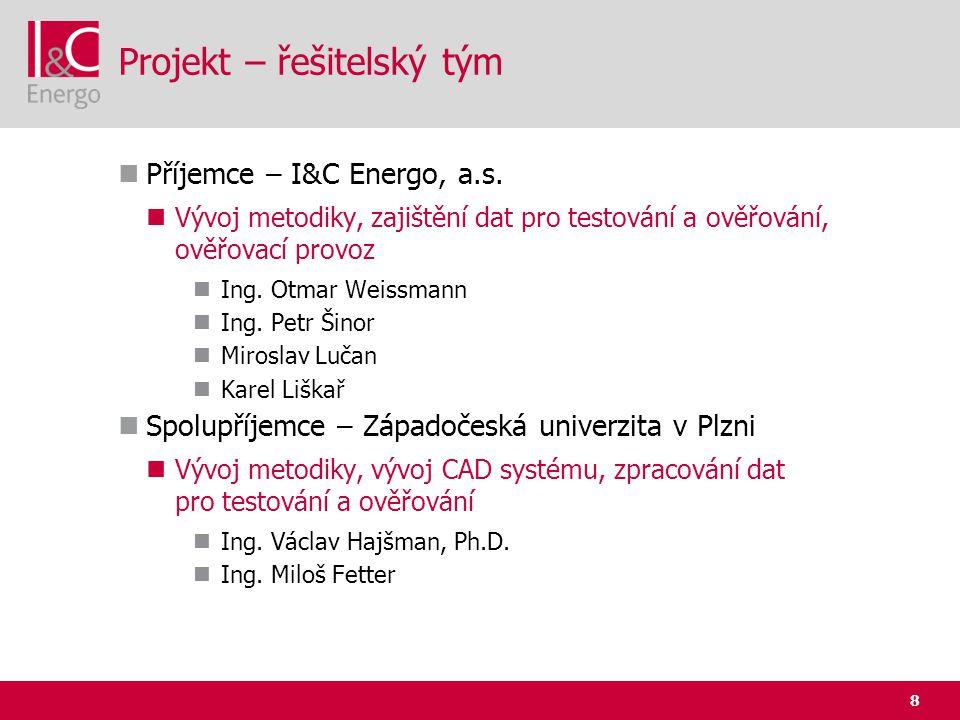 Projekt – řešitelský tým
