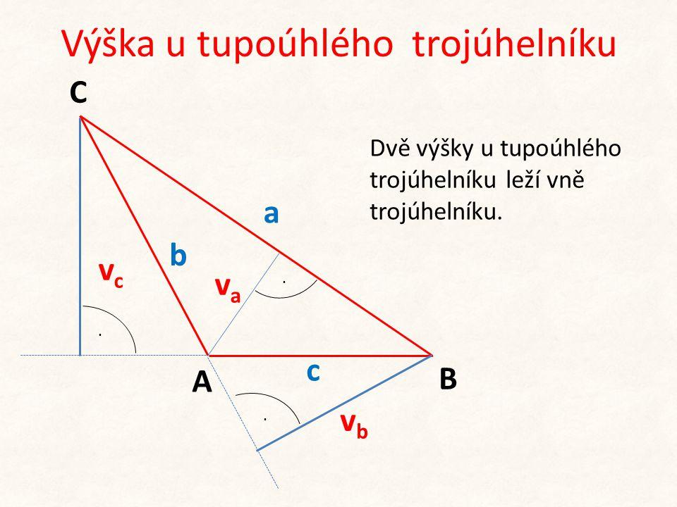 Výška u tupoúhlého trojúhelníku