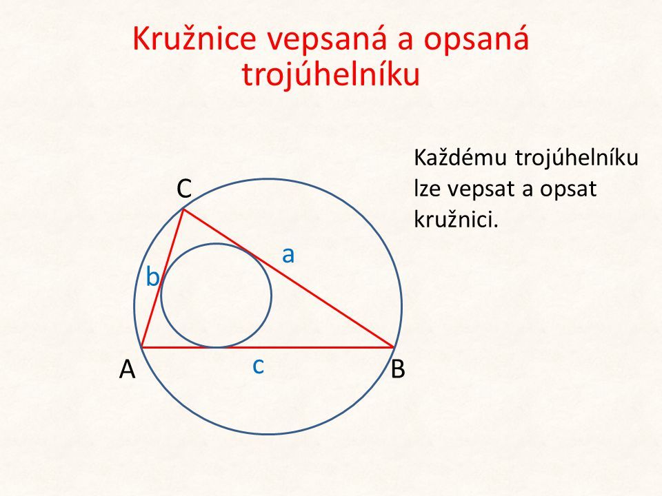 Kružnice vepsaná a opsaná trojúhelníku