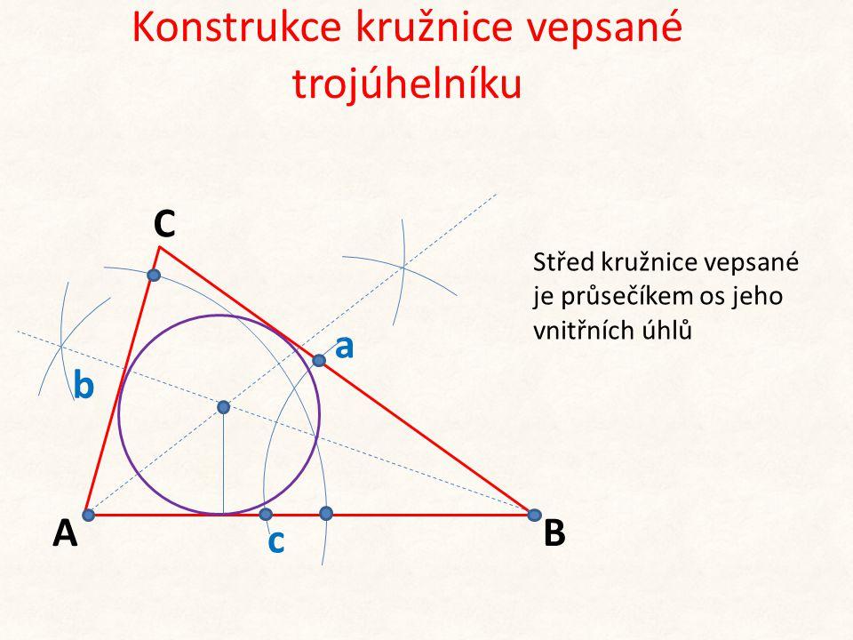 Konstrukce kružnice vepsané trojúhelníku