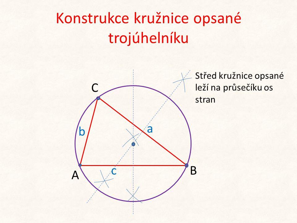 Konstrukce kružnice opsané trojúhelníku