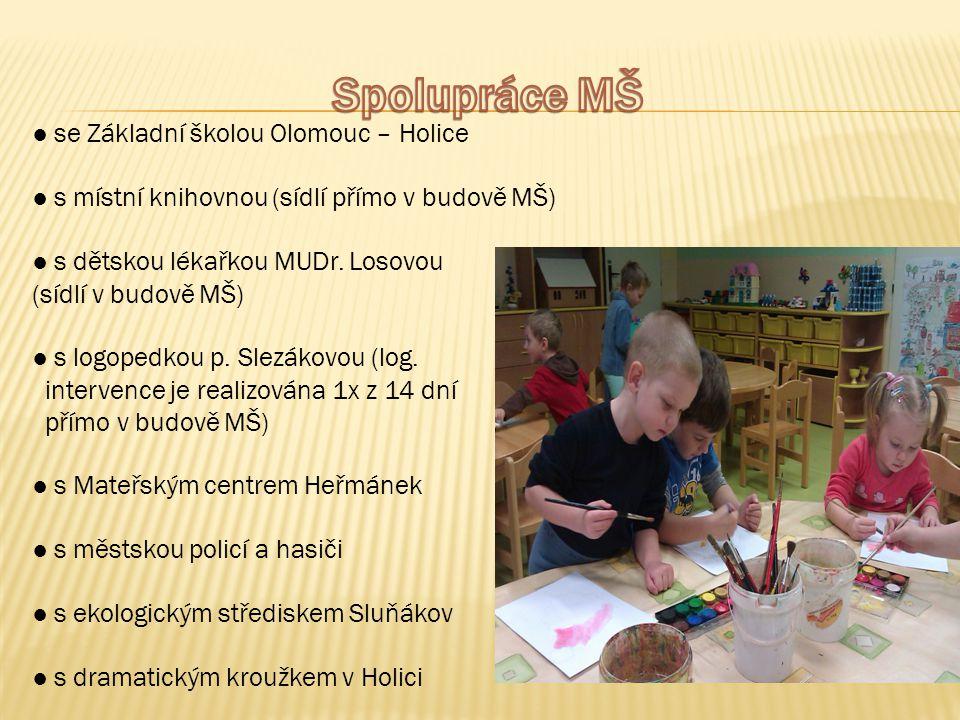 Spolupráce MŠ ● se Základní školou Olomouc – Holice