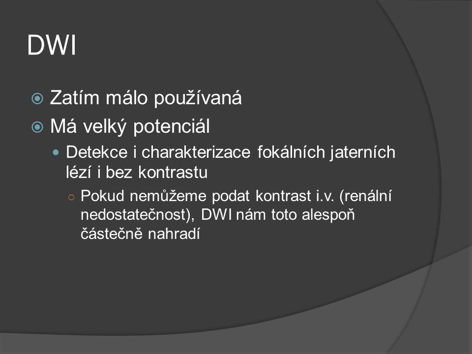 DWI Zatím málo používaná Má velký potenciál
