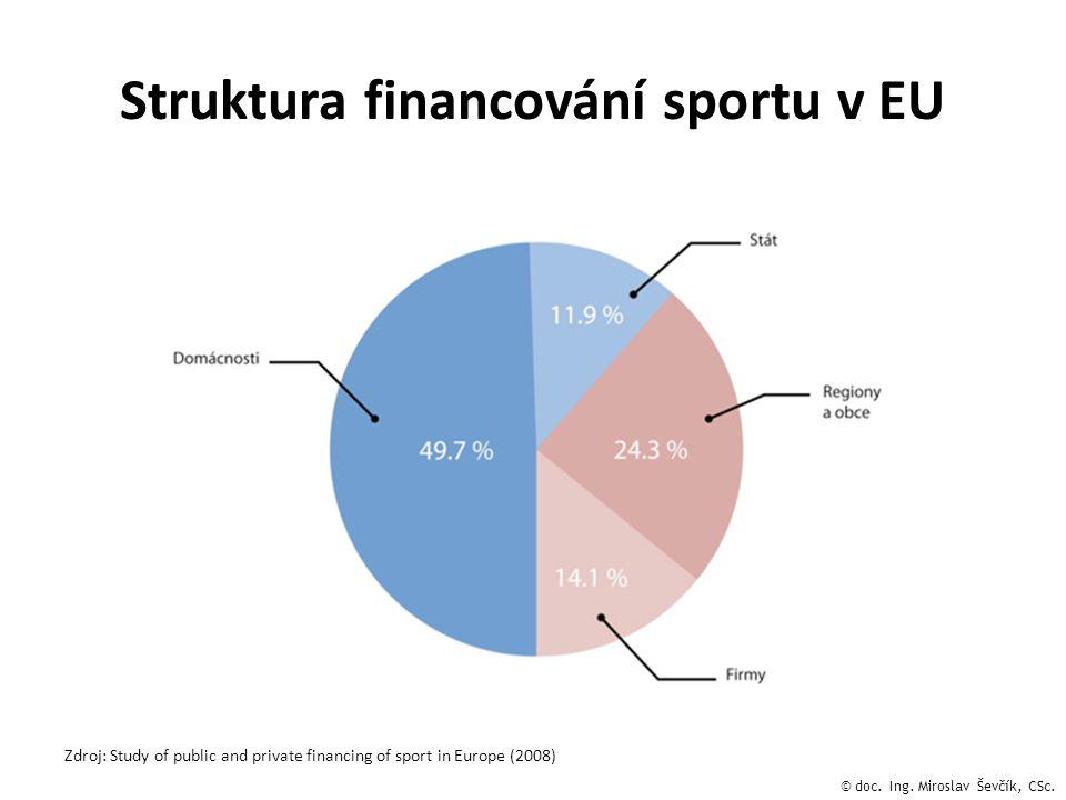 Struktura financování sportu v EU
