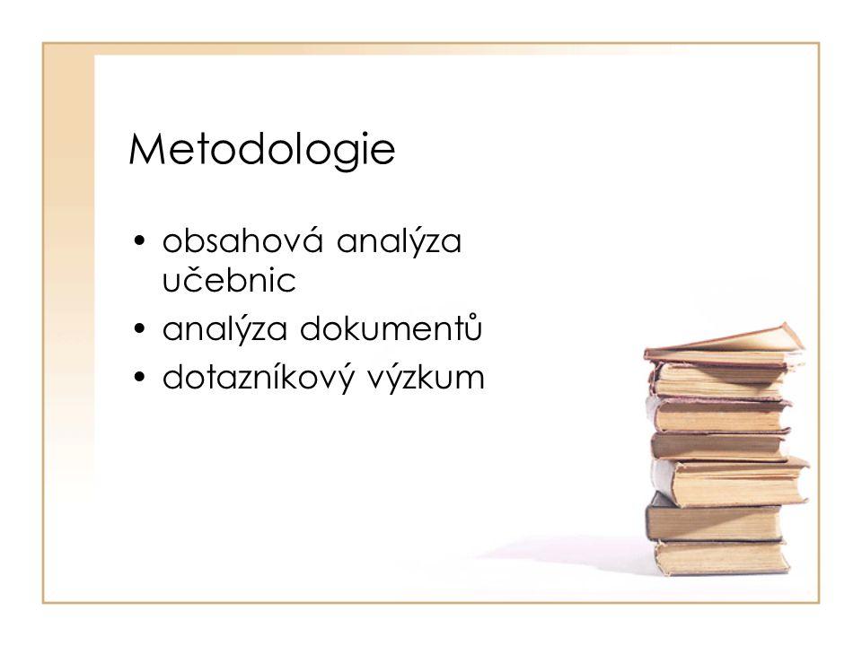 Metodologie obsahová analýza učebnic analýza dokumentů