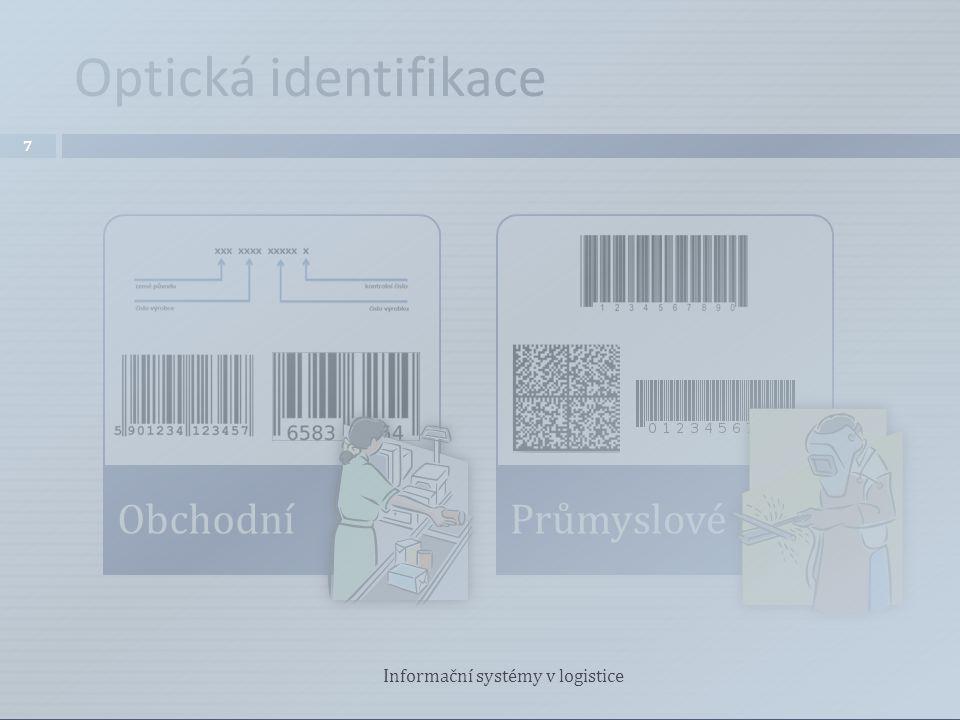 Optická identifikace Informační systémy v logistice Obchodní