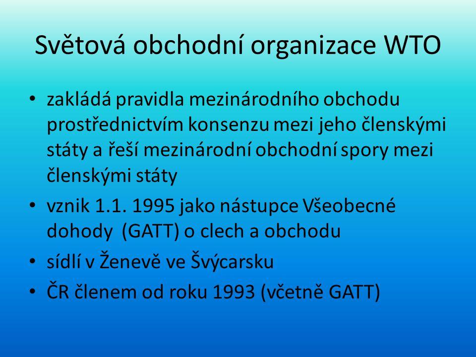 Světová obchodní organizace WTO