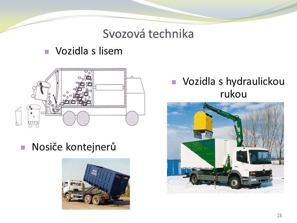 Vozidla s hydraulickou rukou