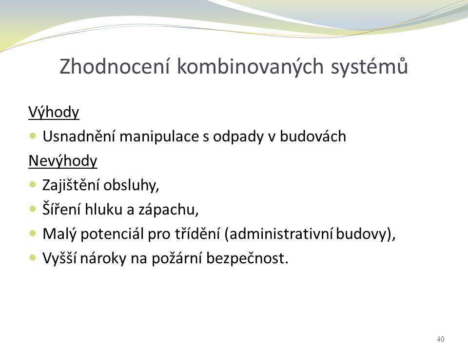 Zhodnocení kombinovaných systémů