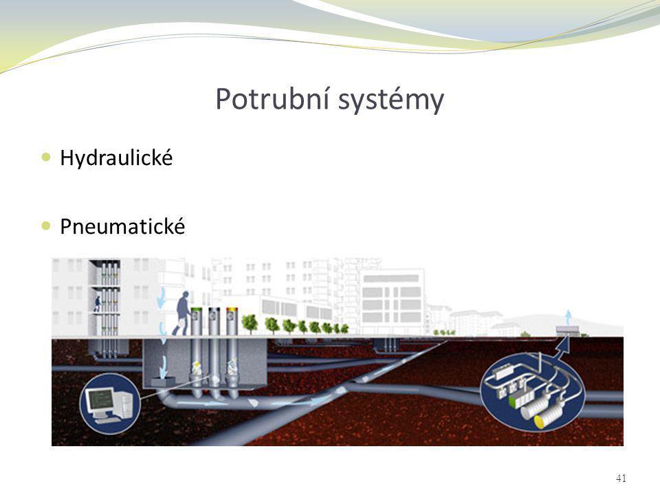 Potrubní systémy Hydraulické Pneumatické