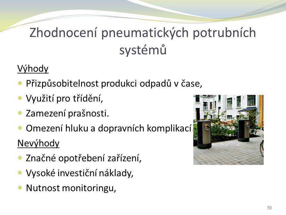 Zhodnocení pneumatických potrubních systémů