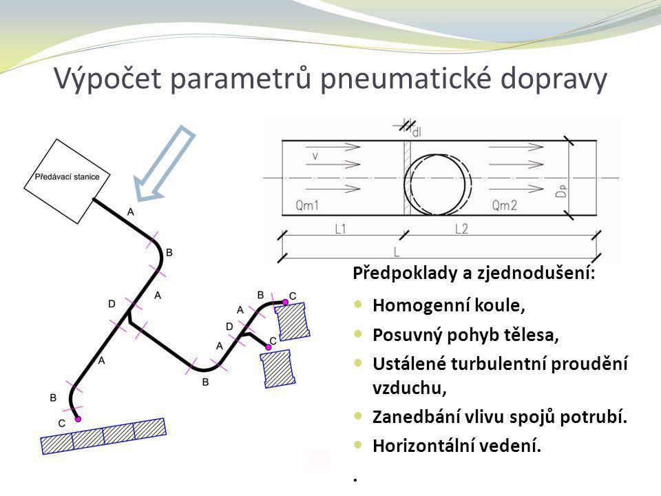 Výpočet parametrů pneumatické dopravy