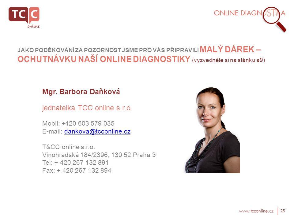 jednatelka TCC online s.r.o.