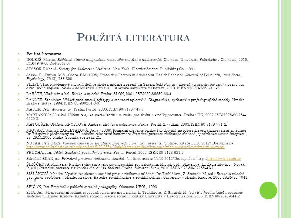 Použitá literatura Použitá literatura: