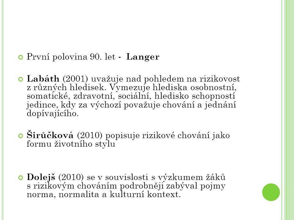 První polovina 90. let - Langer